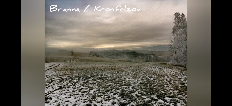 Druhý letošní snowkite. Branná / Kronfelzov