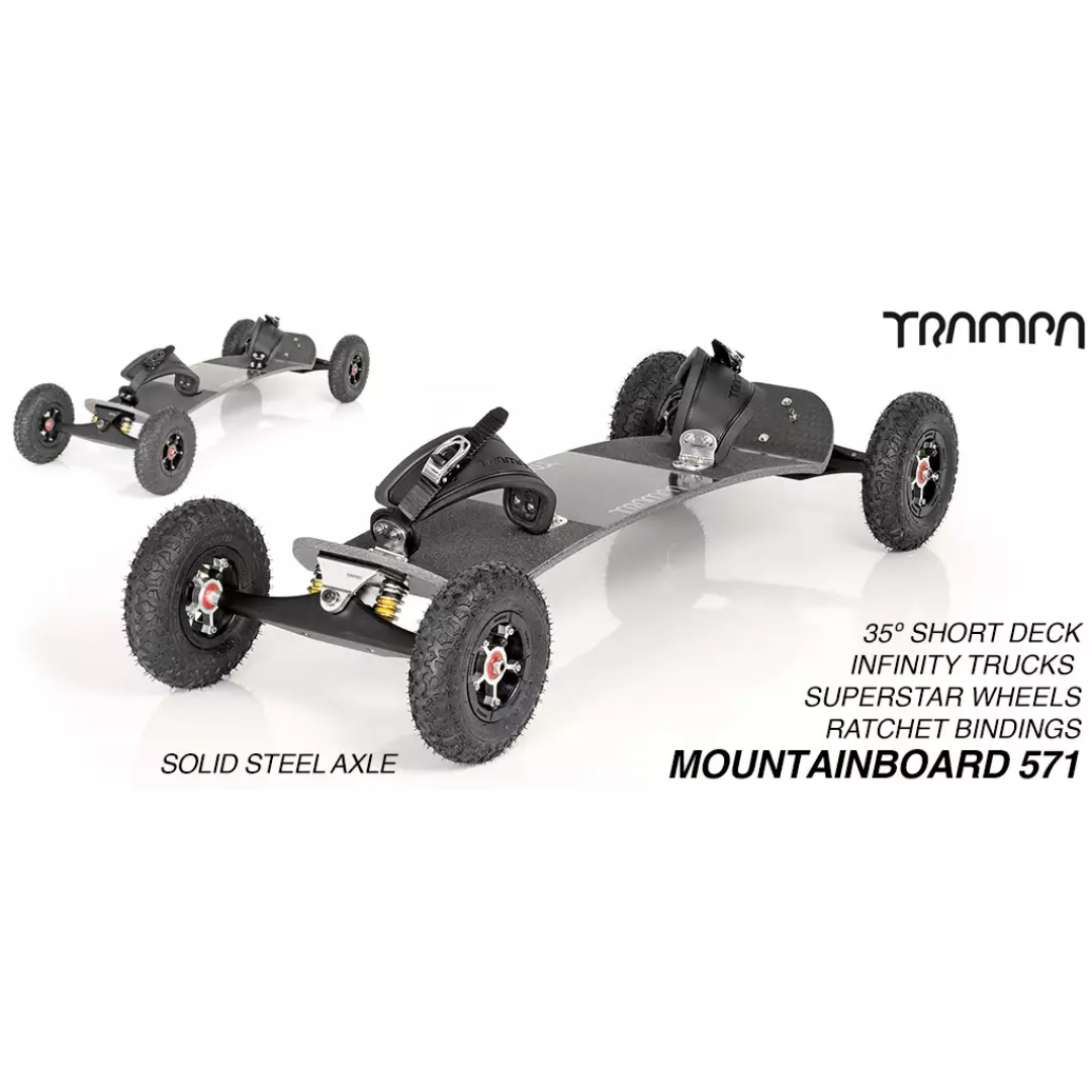 Mountainboard Trampa Deck SHORT 35° Truck INFINITY Hubs SUPERSTAR (6500g)