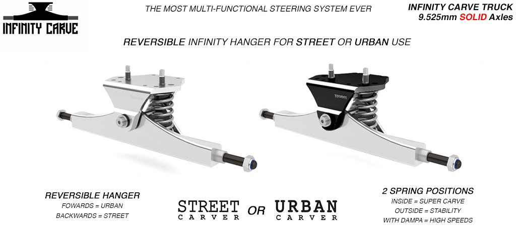Truck Trampa STREET a INFINITY CARVE 9,5mm