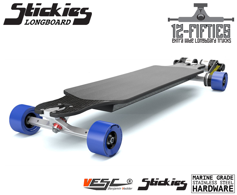 ELECTRIC longboard Trampa ORRSOM STICKIES