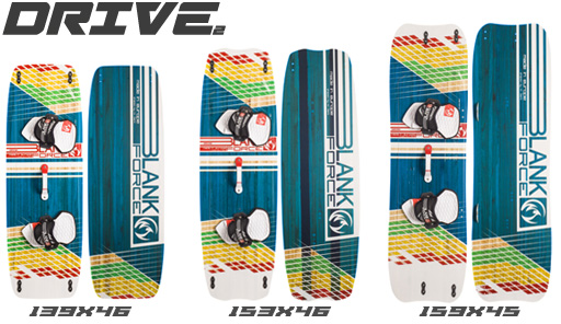 Kiteboard BlankForce Drive (139až159cm)(2,7až3,2kg) Light Wind/school