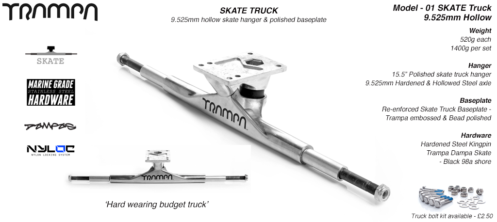 Truck Trampa SKATE 9.52mm (Titan. King Pin) (510g)